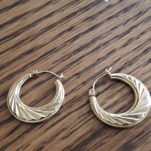 14K gold Hoops Earrings  FIRM PRICE